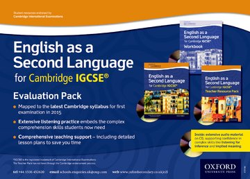 English as a Second Language for Cambridge IGCSE