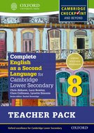 Complete English as a Second Language for Cambridge Secondary 1 Teacher Pack 8 & CD