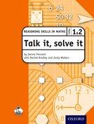 Talk it, solve it - Reasoning Skills in Maths Yrs 1 & 2