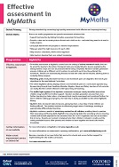 Effective assessment with MyMaths (PDF)