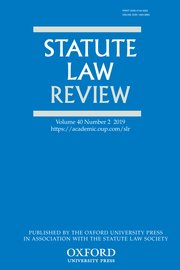Cover for   Statute Law Review