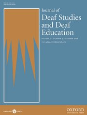 Cover for   The Journal of Deaf Studies and Deaf Education