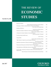 Cover for   The Review of Economic Studies