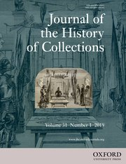 Cover for   Journal of the History of Collections