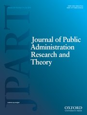 Cover for   Journal of Public Administration Research and Theory