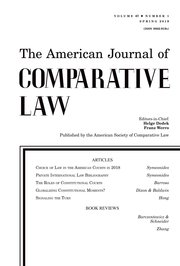Cover for   The American Journal of Comparative Law