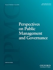 Cover for   Perspectives on Public Management and Governance