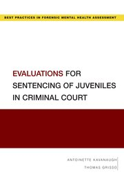 Cover for   Evaluations for Sentencing of Juveniles in Criminal Court