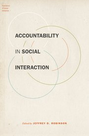 Cover for   Accountability in Social Interaction