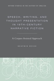 Cover for   Speech, Writing, and Thought Presentation in 19th-Century Narrative Fiction