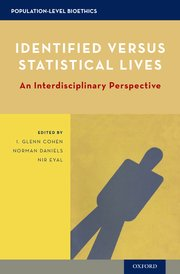 Cover for  Identified versus Statistical Lives