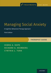 Cover for   Managing Social Anxiety, Therapist Guide