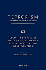 Cover for   TERRORISM: COMMENTARY ON SECURITY DOCUMENTS VOLUME 142