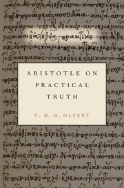 Cover for   Aristotle on Practical Truth