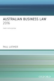 Cover for   Australian Business Law 2016