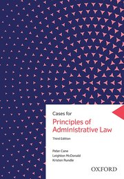 Cover for   Cases for Principles of Administrative Law