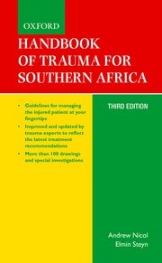 Cover for   Handbook of Trauma for Southern Africa
