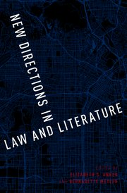 Cover for   New Directions in Law and Literature