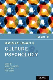 Cover for   Handbook of Advances in Culture and Psychology