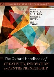 Cover for   The Oxford Handbook of Creativity, Innovation, and Entrepreneurship