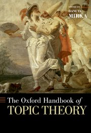 Cover for   The Oxford Handbook of Topic Theory