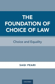 Cover for   The Foundation of Choice of Law