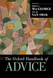 Cover for   The Oxford Handbook of Advice