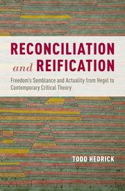 Cover for   Reconciliation and Reification