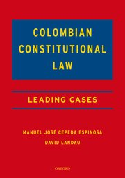 Cover for   Colombian Constitutional Law