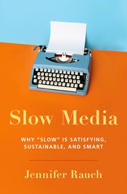 Cover for   Slow Media