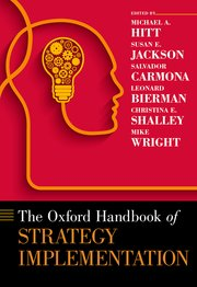 Cover for   The Oxford Handbook of Strategy Implementation
