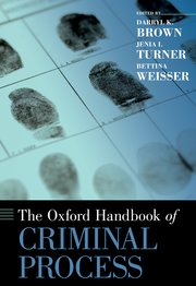 Cover for   The Oxford Handbook of Criminal Process