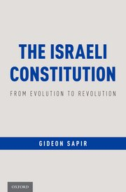Cover for   The Israeli Constitution