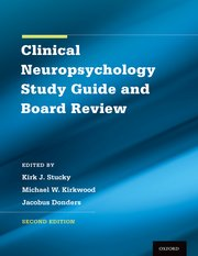 Cover for   Clinical Neuropsychology Study Guide and Board Review