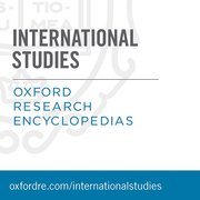 Cover for   Oxford Research Encyclopedias: International Studies