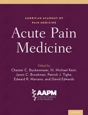 Cover for   Acute Pain Medicine