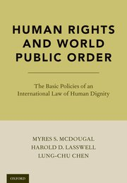 Cover for   Human Rights and World Public Order