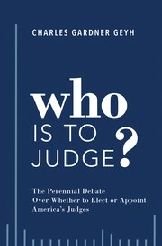 Cover for   Who is to Judge?