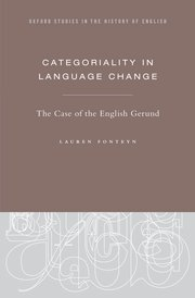 Cover for   Categoriality in Language Change