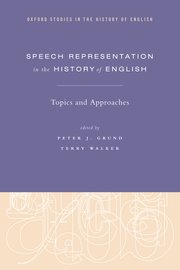 Cover for   Speech Representation in the History of English