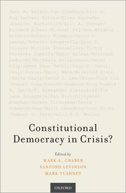 Cover for   Constitutional Democracy in Crisis?