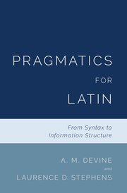 Cover for   Pragmatics for Latin