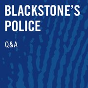 Cover for   Blackstones Police Investigators Q&A Online 2019