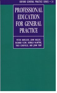 Cover for   Professional Education for General Practice