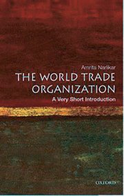 Cover for   The World Trade Organization: A Very Short Introduction