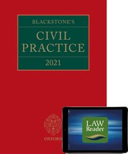 Cover for   Blackstones Civil Practice 2021: Digital Pack