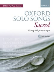 Cover for   Oxford Solo Songs: Sacred