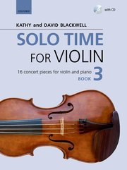 Cover for   Solo Time for Violin Book 3 + CD