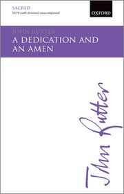 Cover for   A Dedication and an Amen