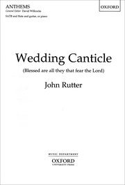 Cover for   Wedding Canticle